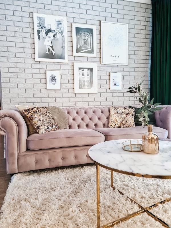 Welurowa sofa trzyosobowa Chesterfield Grand od Eweliny