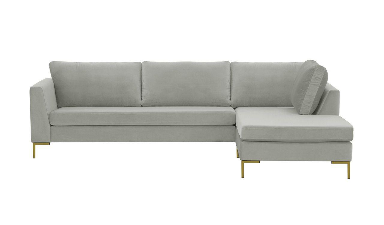 Szara sofa narożna