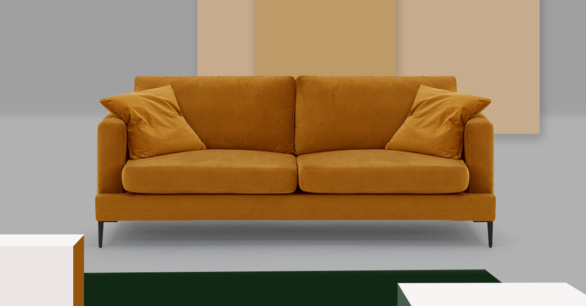 Żółta sofa w salonie. 3 pomysły na salon w jesiennym klimacie