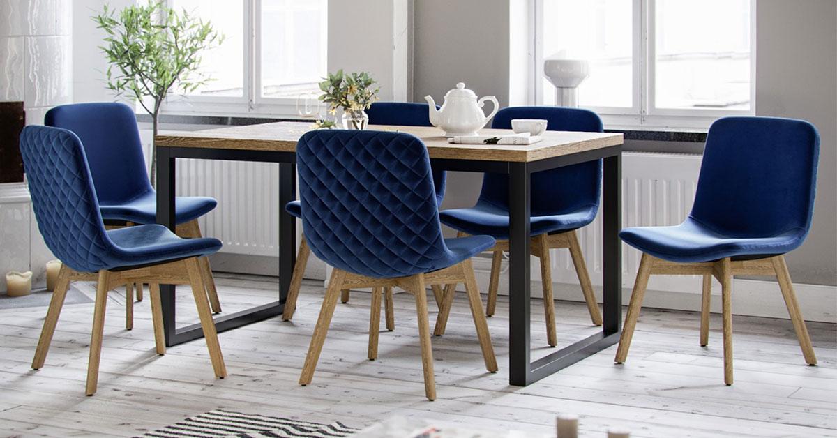 Eleganckie krzesła tapicerowane. 6 propozycji krzeseł do jadalni